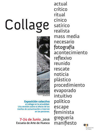 "Cartel de la exposición ""Collage"""